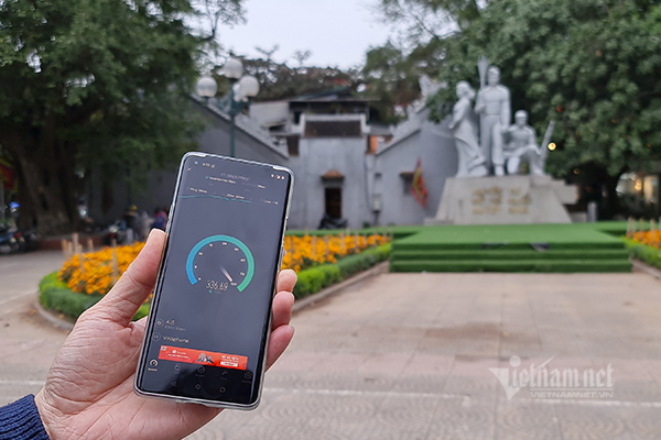 5G network tested in Hanoi: 10-20 times faster than 4G