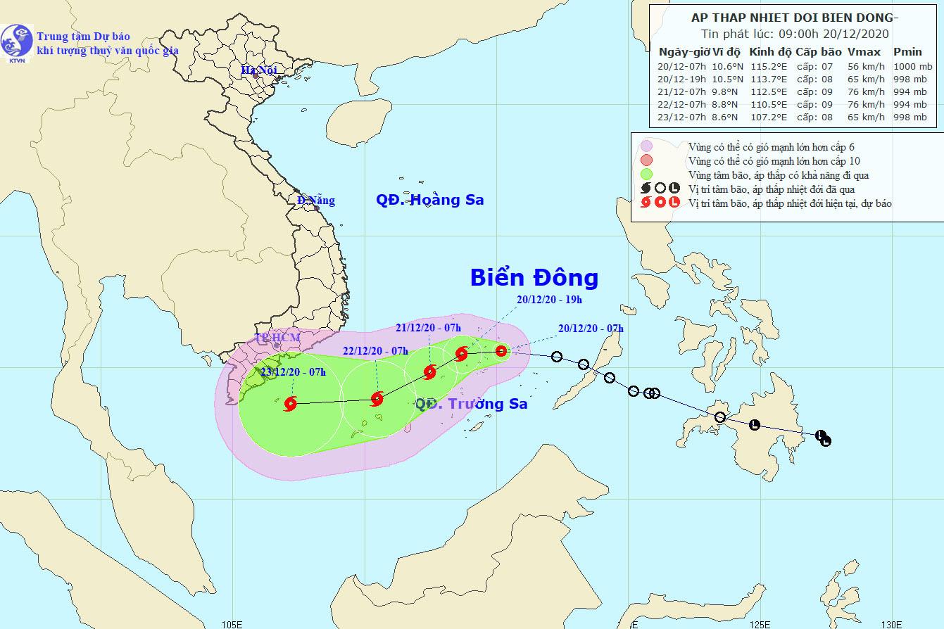 Áp thấp nhiệt đới vào Biển Đông, nguy cơ hình thành bão giật cấp 11
