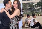 Hồ Ngọc Hà gây chú ý khi đăng hình cùng Kim Lý bế con dạo phố