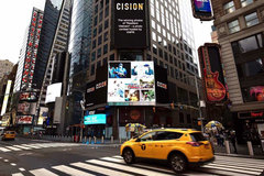 Photos of Vietnam's Covid-19 combat on Times Square big screen