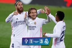 Đè bẹp Eibar, Real Madrid bắt kịp điểm số với Atletico