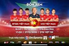 Xem trực tiếp ĐT Việt Nam vs U22 Việt Nam ở đâu?