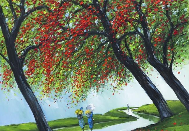 'Miền sương khói' yên bình của họa sĩ Lê Thanh Sơn