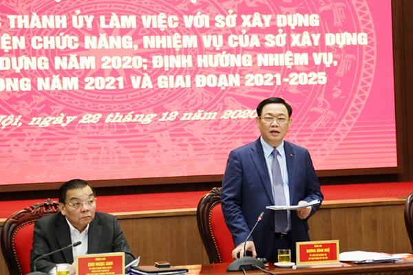 Bí thư Hà Nội giao nhiều nhiệm vụ cho Sở Xây dựng