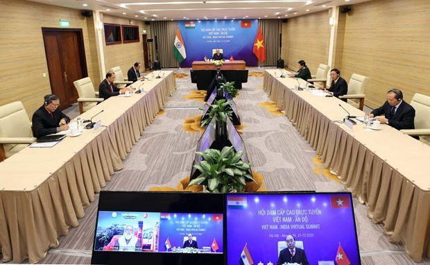 Vietnamese, Indian PMs co-chair virtual summit