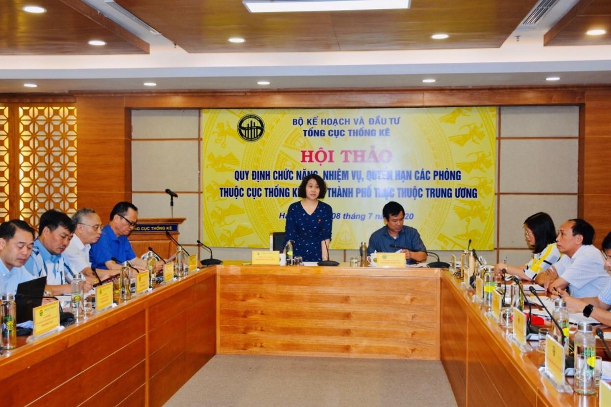 Hội thảo Quy chế phối hợp giữa các phòng thuộc Cục thống kê và giữa Cục TTDL với các đơn vị thuộc TCTK, Cục Thống kê