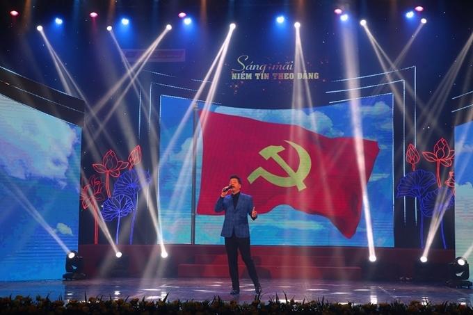 Dàn nghệ sĩ tham gia chương trình đặc biệt 'Sáng mãi niềm tin theo Đảng'