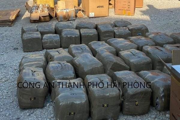 Bắt giữ vụ vận chuyển hơn 665kg ma túy qua Cảng Hải Phòng