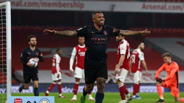 Video bàn thắng Arsenal 1-4 Man City