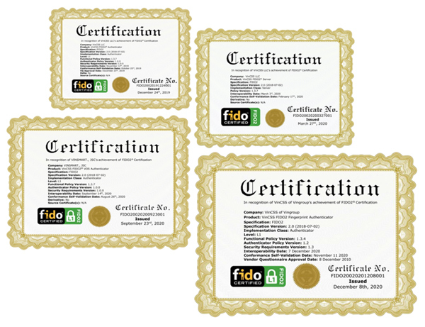 Khoá xác thực sinh trắc học của Vingroup được cấp chứng chỉ FIDO2