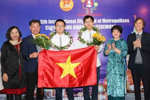 Học sinh Hà Nội giành 5 HCV kỳ thi Olympic quốc tế IOM