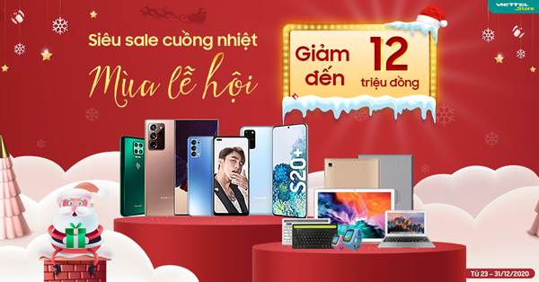 Viettel Store giảm giá mạnh chào Noel và năm mới