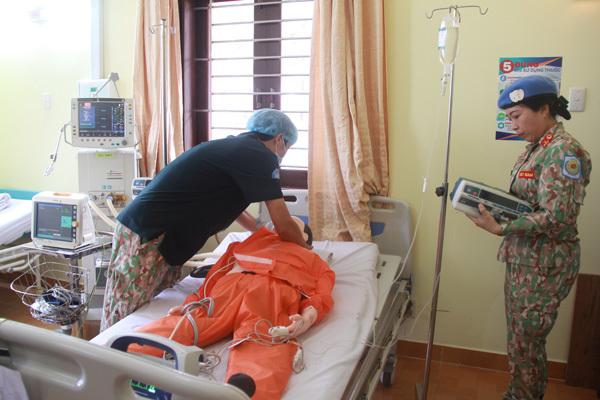 Bệnh viện dã chiến diễn tập đợt cuối trước khi sang Nam Sudan