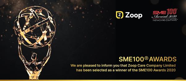 Nền tảng số Zoop Care nhận giải thưởng SME100®