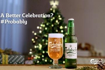 Tận hưởng Giáng sinh an lành với bia Carlsberg mượt êm