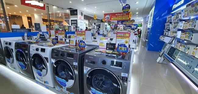 Điện máy giảm 'sốc' tới 50%, bất ngờ máy giặt lồng ngang chỉ 6 triệu/chiếc