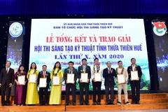 Trao giải thưởng Hội thi Sáng tạo kỹ thuật tỉnh Thừa Thiên Huế năm 2020