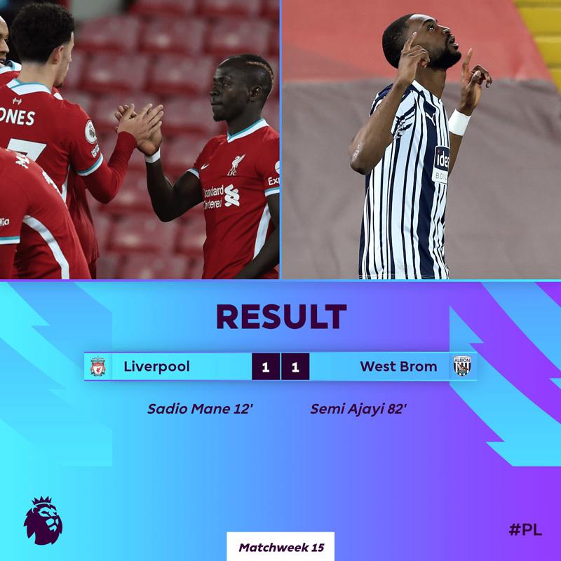 Xem video bàn thắng Liverpool 1-1 West Brom
