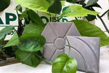 University students make bricks from plastic waste