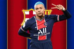 Barca dồn tiền ký Mbappe để thay Messi