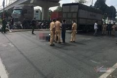 Rẽ vào cảng, xe tải nặng cán tử vong nam sinh viên