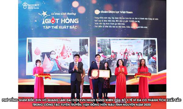 EVN nhận giải thưởng 'Giọt hồng' năm 2020