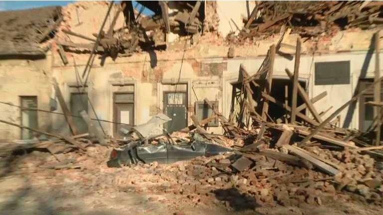 Động đất mạnh ở Croatia, nhiều toà nhà đổ sập
