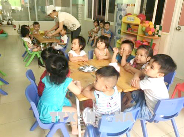 HCM City improves quality ofpre-school education