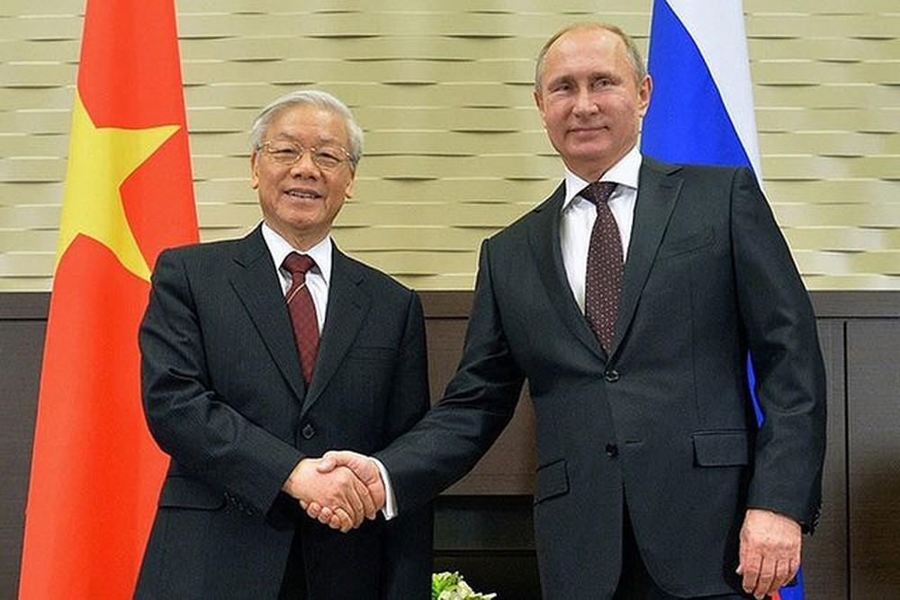 Tổng thống Putin chúc mừng năm mới Tổng Bí thư, Chủ tịch nước