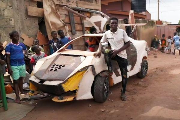 Chàng trai nghèo tự chế siêu xe McLaren chỉ với 200 USD