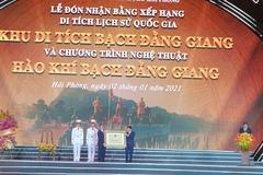 Thủ tướng dự lễ đón nhận Bằng xếp hạng Khu di tích quốc gia Bạch Đằng Giang