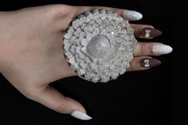 Ngắm chiếc nhẫn giành kỷ lục Guinness vì đính 12.638 viên kim cương