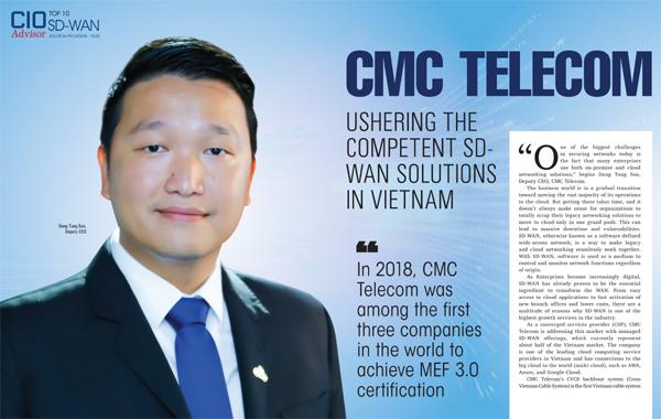 CMC Telecom vào top 10 nhà cung cấp SD-WAN khu vực châu Á Thái Bình Dương