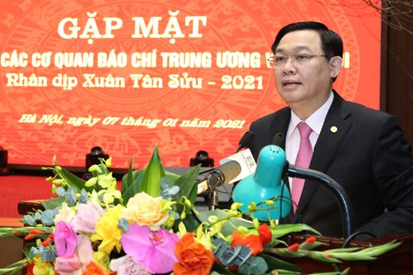 Ông Vương Đình Huệ: Hà Nội không có hạn chế đối với thông tin báo chí