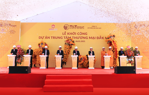 Construction of T&T Group's modern trade center commences in Dak Nong Province