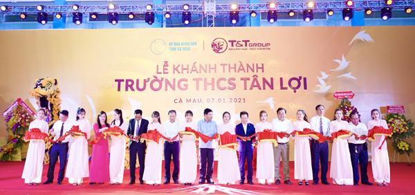 T&T Group tài trợ gần 11 tỷ đồng xây trường học ở Cà Mau