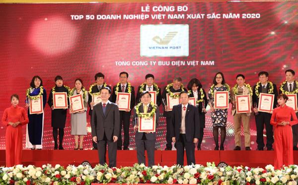 Vietnam Post vào top 50 DN xuất sắc nhất Việt Nam 2020