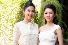 Á hậu Thuỳ Dung diện tông trắng cùng Hoa hậu Ngọc Hân