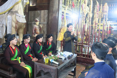 Bắc Ninh: liền anh, liền chị phục dựng lại nghi lễ hát thờ quan họ