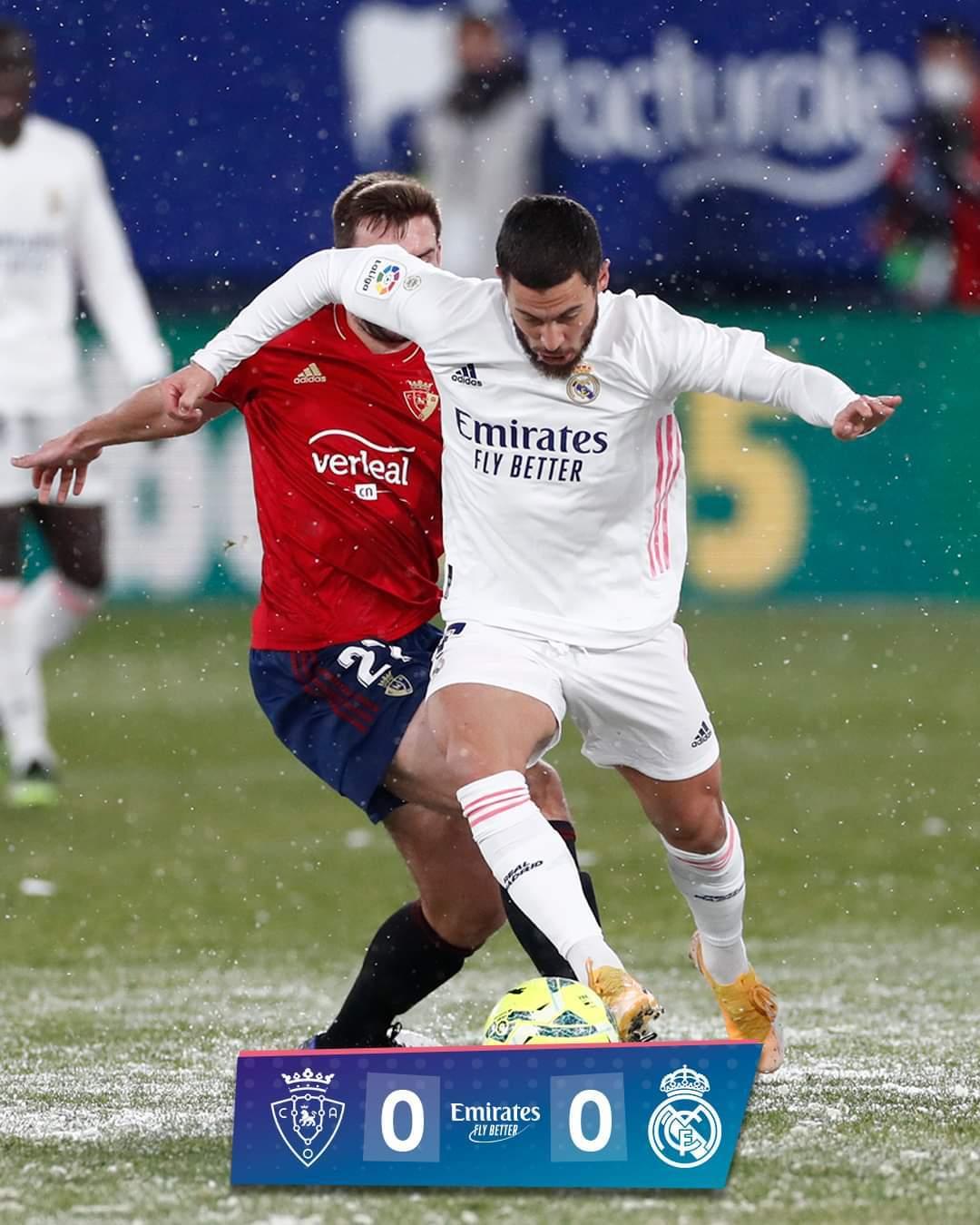 Real Madrid bị cầm chân vì... ông trời