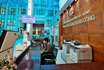 Bốn tại chỗ và ba giảm tại trung tâm hành chính công Bắc Ninh
