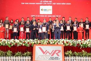 Cen Land vào top 500 DN lớn nhất Việt Nam 2020