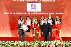 Tâm Bình được vinh danh Top 5 công ty Đông dược uy tín 2020