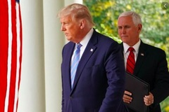 Ông Trump và 'phó tướng' Mike Pence làm hoà