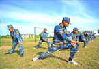 Naval troops prepare on land for dangers of the sea