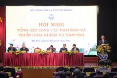 Phát biểu đáp từ của Bộ trưởng Nguyễn Mạnh Hùng tại Hội nghị tổng kết công tác năm 2020 và triển khai nhiệm vụ năm 2021 của Bộ TT&TT