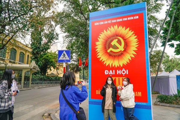 Hanoi streets,13th National Party Congress
