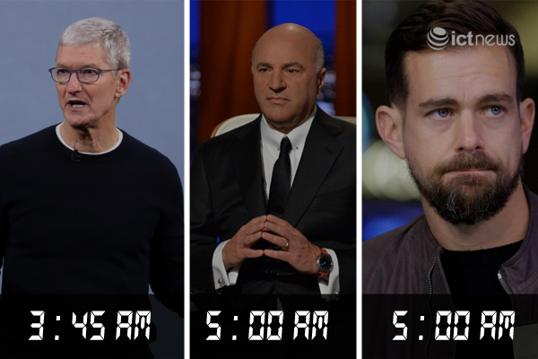 Những lãnh đạo công nghệ 'dậy sớm để thành công'