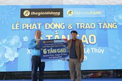 Thế Giới Di Động khởi động chiến dịch tặng 1.000 tấn gạo khắp Việt Nam