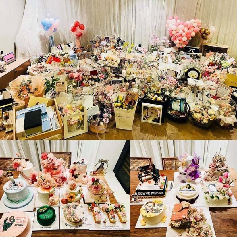 Son Ye Jin ngập quà trong ngày sinh nhật tuổi 39